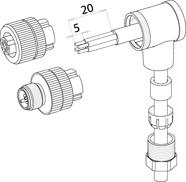 490020 - M12 - Connector